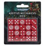 Hračka kostky Warhammer Adeptus Mechanicus (20 ks), šestistěnné - červené