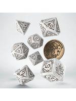 Hračka Kostky Zaklínač - Geralt (bílé)