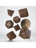 Hračka Kostky Zaklínač - Geralt (hnědo-stříbrné)