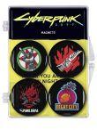 Magnet Cyberpunk - Sada 4 magnetov (HRY)