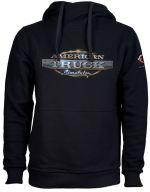 Herné oblečenie Mikina American Truck Simulator - Čierna s logom (veľkosť L)