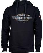 oblečení pro hráče Mikina American Truck Simulator - Černá s logem (velikost XL)