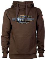oblečení pro hráče Mikina American Truck Simulator - Hnědá s logem (velikost L)