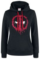 oblečení pro hráče Mikina dámská Deadpool - Splatter Logo (velikost M)
