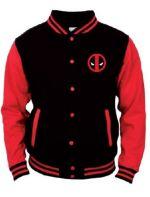 oblečení pro hráče Mikina Deadpool - College Jacket (velikost XXL)