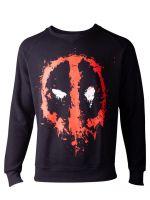 oblečení pro hráče Mikina Deadpool - Dripping Face (velikost S)