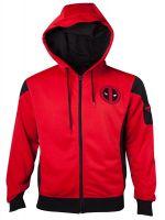 oblečení pro hráče Mikina Deadpool - Red and black (velikost XL)
