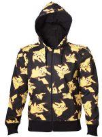 oblečení pro hráče Mikina Pokémon - Pikachu All Over (velikost M)