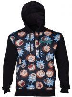 oblečení pro hráče Mikina Rick and Morty - Pattern (velikost M)