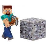 Figúrka Minecraft Overworld - Steve (s krompáčom)