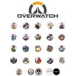 Hračka Náhodný odznak Overwatch