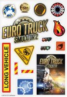 Nálepky Euro Truck Simulator (HRY)