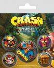 Odznaky Crash Bandicoot - Mix