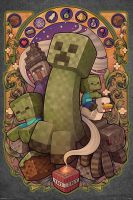 Plagát Minecraft - Creeper Nouveau (HRY)