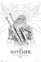 Plagát Zaklínač - Geralt Sketch (HRY)