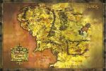Plagát Lord of the Rings - Classic Map (HRY)