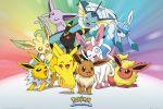 Hračka Plakát Pokémon - Eevee Evolution and Pikachu