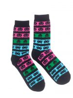 Hračka Ponožky Space Invaders - Neon Colors (velikost 43/46)
