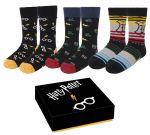 Ponožky Harry Potter - Sada (3 páry, 35/41) (HRY)