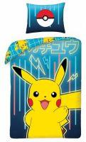 Hračka Povlečení Pokémon - Pikachu modré