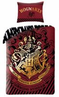 Obliečky Harry Potter - Hogwarts (červené) (HRY)