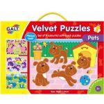 Sametové puzzle  4 v 1 - domáci maznáčikovia