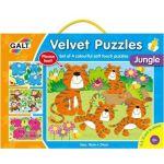 Sametové puzzle  4 v 1 - džungľa