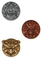 Hračka Sběratelský medailon Doom - Set (Cacodemon, Pinky a Baron of Hell)