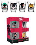 Hračka Skleničky DC Comics - Suicide Squad Skulls (set 4 ks panáků)