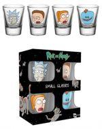 Hračka Skleničky Rick and Morty - Faces (set 4 ks panáků)