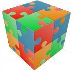 kocka V-cube Fun- jigsaw 2x2