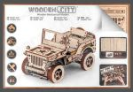 Hračka Stavebnice - Jeep 4x4 (dřevěná)