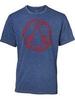 oblečení pro hráče Tričko Assassins Creed - Faux Denim Logo (velikost L)