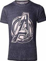 oblečení pro hráče Tričko Avengers - Vintage Jack Kirby Logo (velikost XXL)