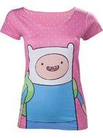 oblečení pro hráče Tričko dámské Adventure Time - Finn with Dots (velikost L)