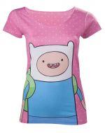 oblečení pro hráče Tričko dámské Adventure Time - Finn with Dots (velikost S)