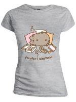 oblečení pro hráče Tričko dámské Pusheen - Purrfect Weekend (velikost L)