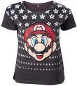 oblečení pro hráče Tričko dámské Super Mario - Mario with Stars (velikost M)