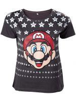 Tričko dámské Super Mario - Mario with Stars (veľkosť