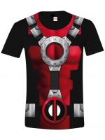 oblečení pro hráče Tričko Deadpool - Costume (velikost L)