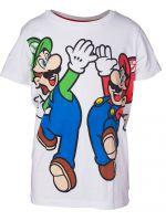 Tričko detské Super Mario - Mario and Luigi (veľkosť 110/116) (TRIKO)