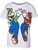 oblečení pro hráče Tričko dětské Super Mario - Mario and Luigi (velikost 158/164)