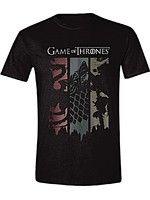 oblečení pro hráče Tričko Game of Thrones - Sigils Banner (velikost L)