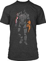 oblečení pro hráče Tričko Mass Effect - Minimalist Sheppard (americká vel. L / evropská XL)