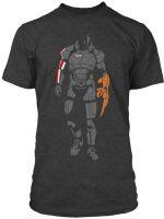 oblečení pro hráče Tričko Mass Effect - Minimalist Sheppard (americká vel. M / evropská L)