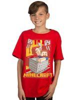 Herné tričko Tričko Minecraft - Vintage Runaway (americká detská veľ. S/európska M)