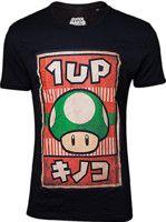 oblečení pro hráče Tričko Nintendo - Propaganda Poster 1-UP Mushroom (velikost L)