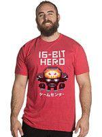 oblečení pro hráče Tričko Overwatch - 16-bit Hero (americká vel. L / evropská XL)