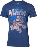 oblečení pro hráče Tričko Super Mario - Super Mario Running Vintage (velikost L)