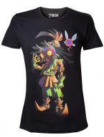oblečení pro hráče Tričko The Legend of Zelda - Majoras Mask Skull Kid (velikost L)